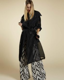 Trench in tulle